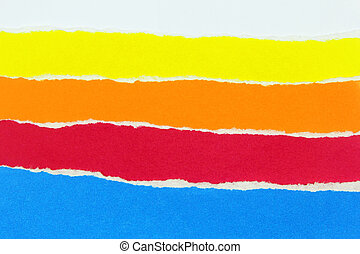 collection of colorful torn papers