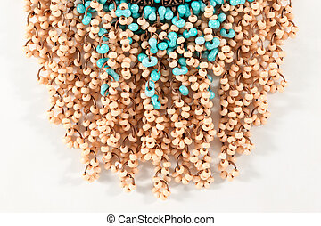 Collection of colourful costume jewelry