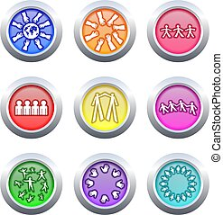 teamwork buttons