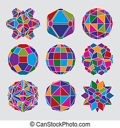 Collection of complex dimensional spheres and abstract geometric