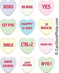 Collection of Conversation Hearts - Valentines day lovely...
