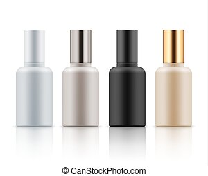 Collection of cosmetic bottles for mockup, 3D realistic illustration