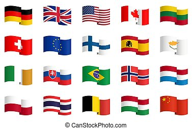 collection of country flags 1