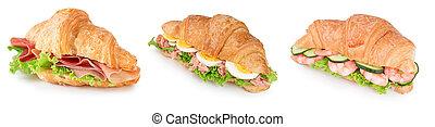 collection of croissant sandwich