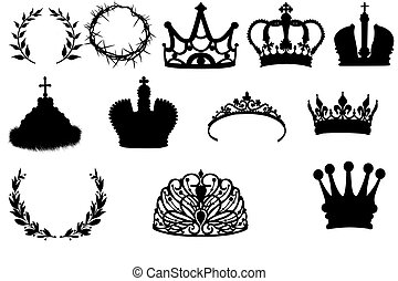 Collection of crowns and wreaths