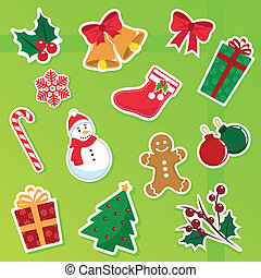 christmas icons - collection of cute christmas icons