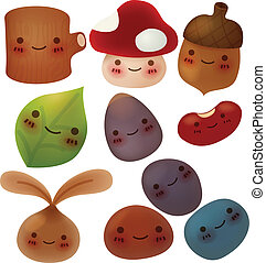 Collection of cute forest item - Vector File EPS10