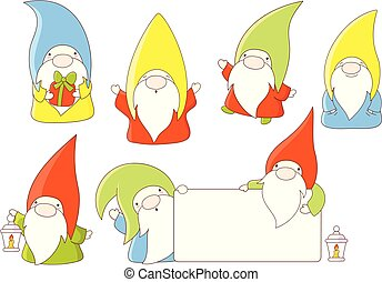 Collection of cute gnomes