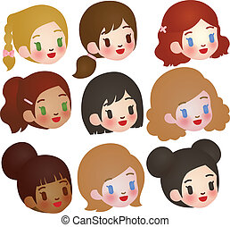 Collection of Cute Multi Ethnic Character - EPS10