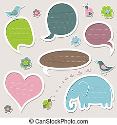 Collection of cute speech bubbles