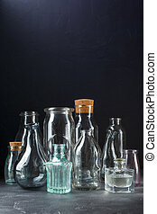 Collection of decorative bottles