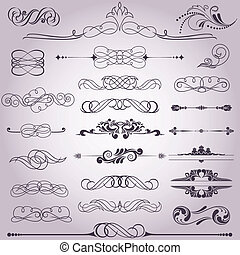 collection of decorative elements 8