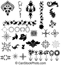 Collection of design elements