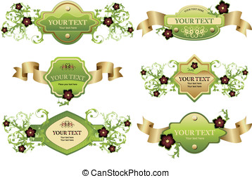 Collection of design labels