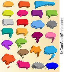 Collection of different 3d shapes