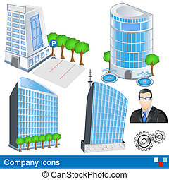 company icons - Collection of different color company icons