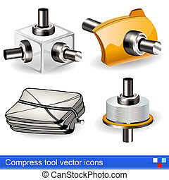 compress tool vector icons