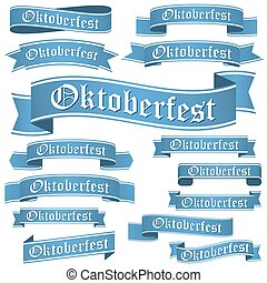 collection of different Oktoberfest banners - big collection...