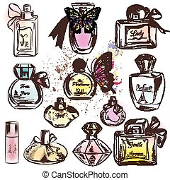 Collection of different perfumes