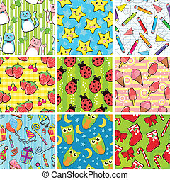 seamless pattern - collection of different seamless patterns...