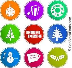 Christmas sign icons