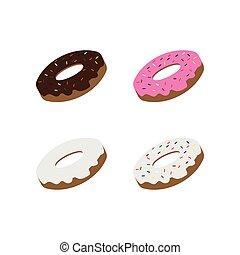 Collection of doughnut logo template