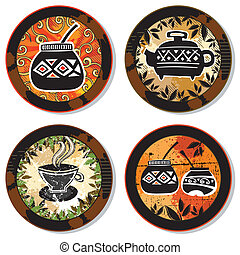 Collection of drink coasters 1 - Grunge collection of drink...