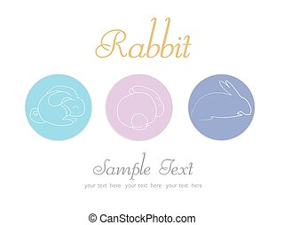 collection of Easter themed icons and logos for multiple uses. vector illustrations