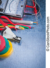 Collection of electricity tools top view image construction ...