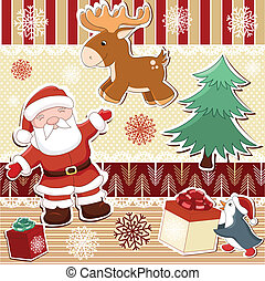 Collection of elements for Christmas design