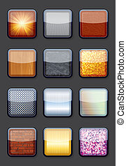 Collection of Eps10 Shiny Empty Textured Buttons
