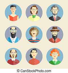 Collection of faces icons