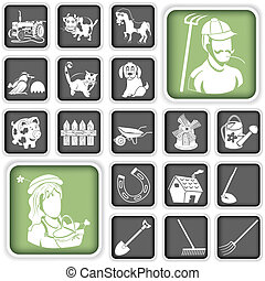 farm icons - Collection of farm icons