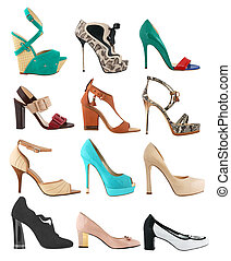 Collection of fashionable women's shoes