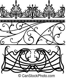 Collection of fences made in vector