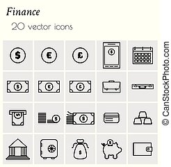 collection of finance icons