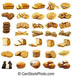 pastry, cookies,cakes and bread - collection of fine pastry,...