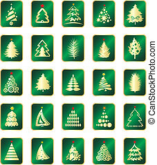 collection of fir tree