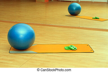 collection of fitness equipment