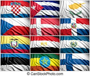 Collection of  flags