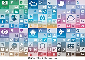 Collection of flat design interface icon set