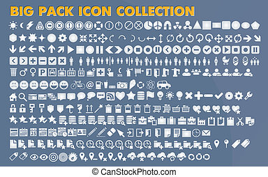 Collection of flat icons
