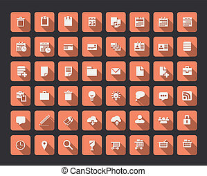 Collection of flat icons, vector