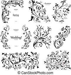 collection of floral a vintage elements for you design