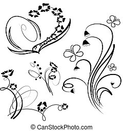 Collection of floral design element