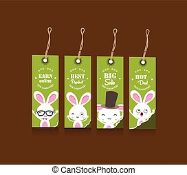 Collection of four Easter gift tags