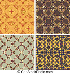Collection of four patterns