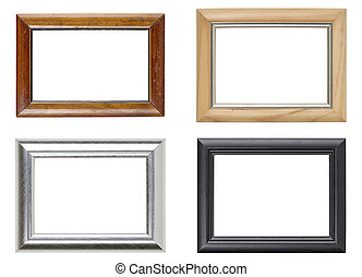 collection of four picture frames