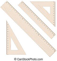 rulers and triangular