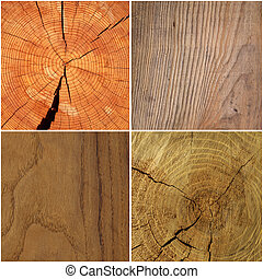 collection of four wood background